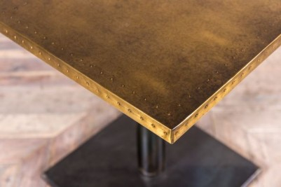 small brass dining table