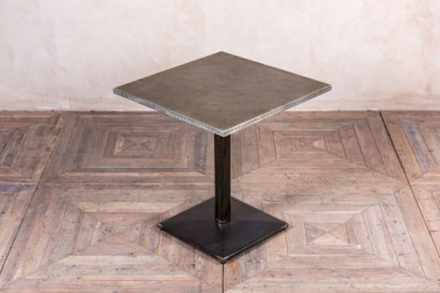 square zinc top cafe table