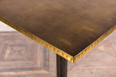 brass top table with metal base