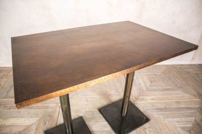double pedestal poseur table