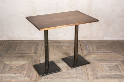 large copper top poseur table