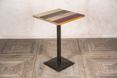 painted square poseur table