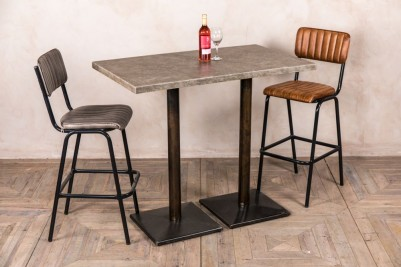 pedestal table with concrete top