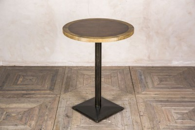 round copper top poseur table
