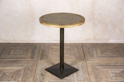 round zinc top poseur table