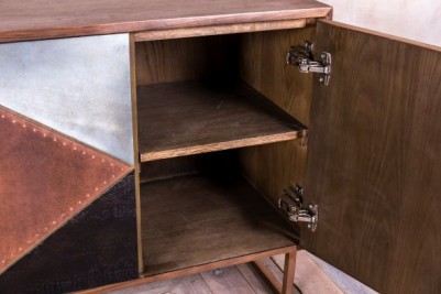 copper plated sideboard unit