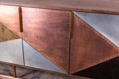 copper zinc fronted sideboards