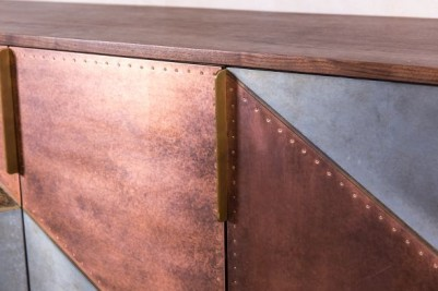rustic reclaimed metal sideboard