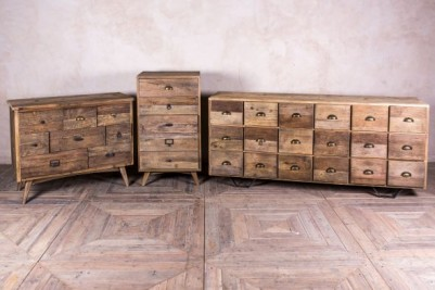 aged rustic pine drawers