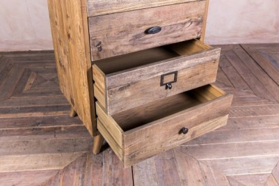 tall reclaimed pine drawers