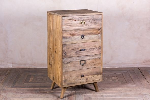 Reclaimed Pine Tallboy Drawers
