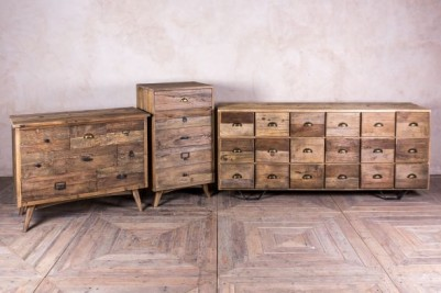 industrial style pine drawers
