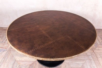 round industrial style table