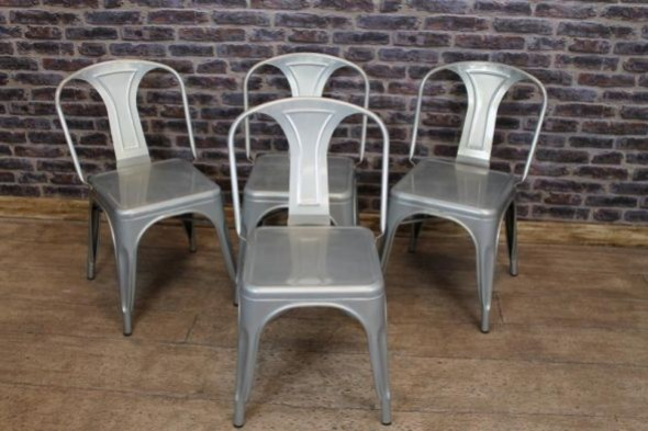 Disc - Tolix chair - with square seat - Galvanised