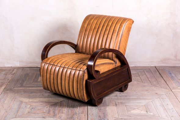 Rathbone Vintage Style Leather Lounge Chair