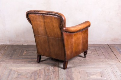 Tan Leather Armchair Vintage Style