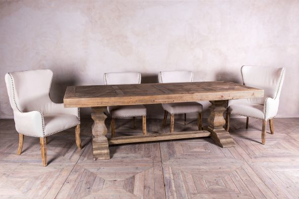 Castle Double Pedestal Dining Table Range