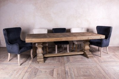 large heavy rustic dining table