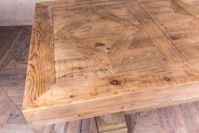 rustic pedestal table