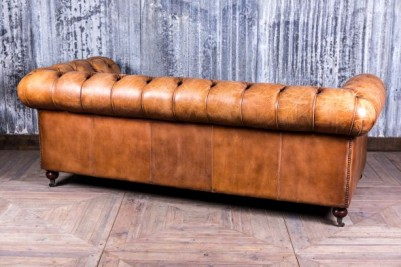 large tan leather sofa