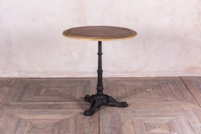 round industrial style cafe table