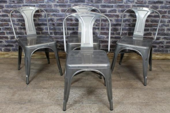 Disc - Tolix chair - with square seat - Gunmetal