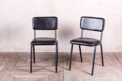 vintage style leather cafe chairs