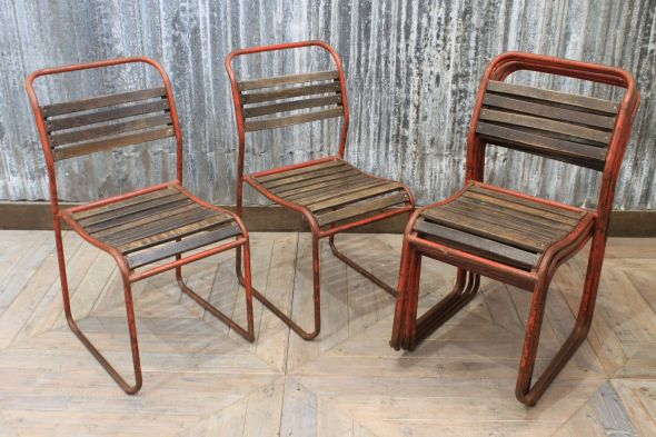 Mid-Century Stacking Chairs