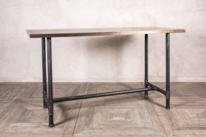 bar height copper table