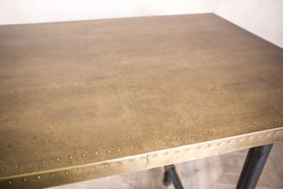 brass studwork table