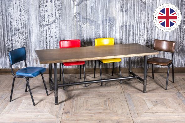 Steamer Industrial Design Dining Table (Dining)