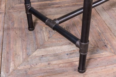 metal top pipework bar table