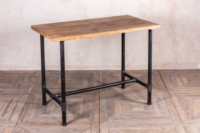 pipework poseur table with pine top