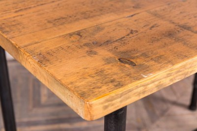 wooden top pipework poseur table