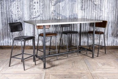 zinc bar table