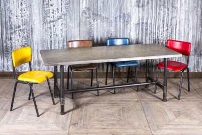 zinc dining table
