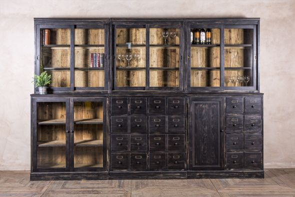 Large Bar Cabinet in Six Parts