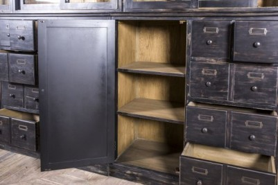 distressed bar cabinet