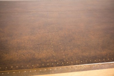 brass stud copper table