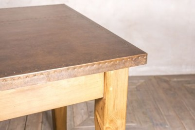 copper top dining room table
