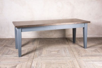 painted wooden dining table