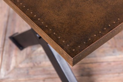 large copper top table