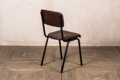 leather cafe chair with black frame