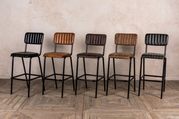 Arlington Leather Breakfast Bar Stools