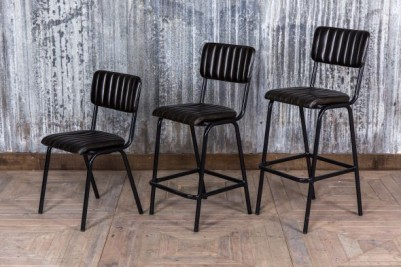 ash black bar stools chairs