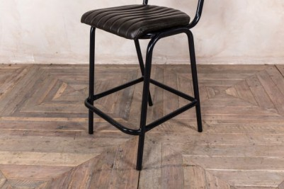 black ribbed stool