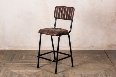 brown leather breakfast bar stool