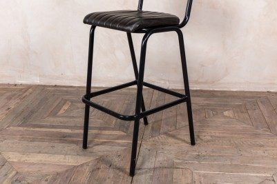 leather stool with black frame