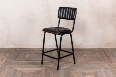 ribbed leather stool