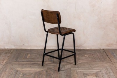 PU leather upholstered stool